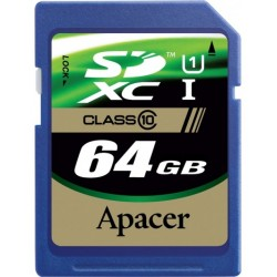 Apacer SDXC 64GB CL10 Memory Card