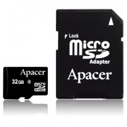 Apacer Micro SD 32GB CL4 Memory Card (with Adapter)