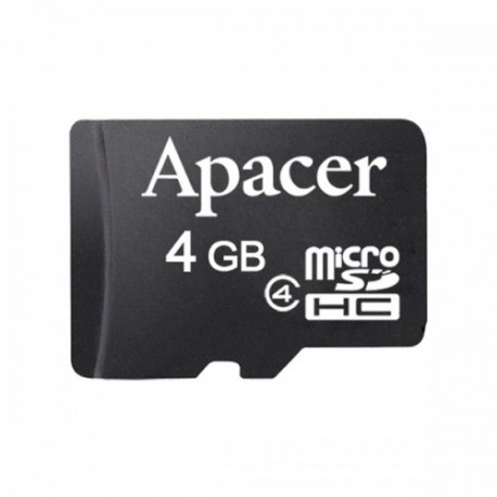 Apacer Micro SD 4GB CL4 Memory Card (with Adapter)