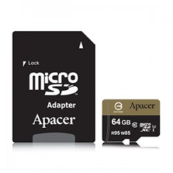 Apacer Micro SD 64GB U3 CL10 95/85 Memory Card